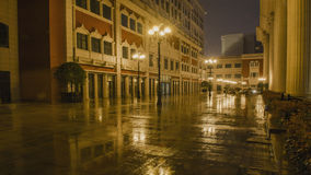 Rainy night Jinsha River Road Royalty Free Stock Photo