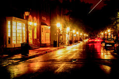 Rainy Night Sky Streak Royalty Free Stock Images