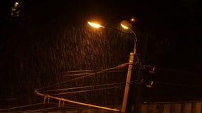Rainy night , thunder, lightning. 4K UHD.