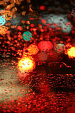 Rainy Night Traffic Royalty Free Stock Images