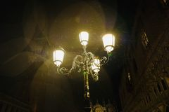 Rainy Night in Venice stock image