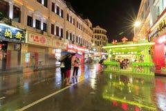 Rainy night of zhongshan road Royalty Free Stock Image