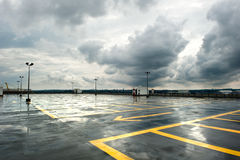 Rainy Parking Royalty Free Stock Images