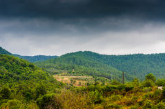 Rainy Pastoral Landscape Daytime Stock Photos