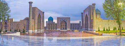 The rainy Registan Stock Photography
