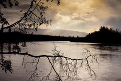 Rainy riverscape Royalty Free Stock Image