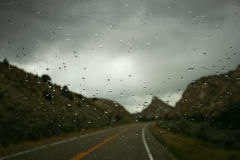 Rainy Road royalty free stock photos