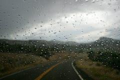 Rainy Road. Mountain road in Utah Mountains Royalty Free Stock Photos