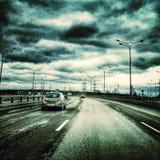 Rainy road Stock Photo