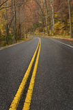 Rainy Road in the Smoky Mountains Stock Photos