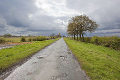 Rainy rural highway Royalty Free Stock Photography