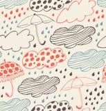 Rainy seamless decorative background Royalty Free Stock Photo
