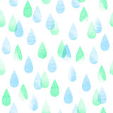 Rainy seamless pattern Royalty Free Stock Photo