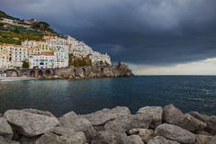 Rainy season in amalfi coast south italy Stock Photography