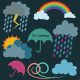 Rainy season illustration Royalty Free Stock Photo