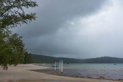 Rainy season at Koh Rong Samloem Island Stock Photos