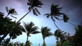 Rainy season on tropical region. Ocean shore in Stock Photography