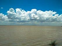 Rainy seasons` Sky and River Stock Photos