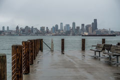 Rainy Seattle Skyliine Royalty Free Stock Photo