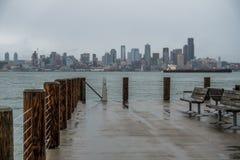 Rainy Seattle Skyliine Royalty Free Stock Photo