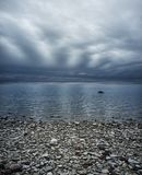 Rainy sky over sea Royalty Free Stock Photos