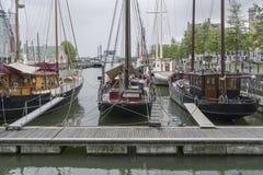 Rainy spring day in Rotterdam Royalty Free Stock Photo