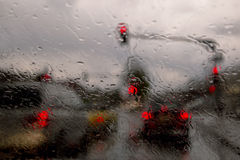 Rainy street abstract Stock Images