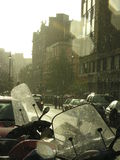 Rainy summer day in London. Taken in Covent Garden during a heavy downpour on a sunny day Royalty Free Stock Photo