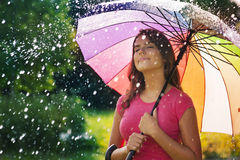 Rainy summer day Royalty Free Stock Image
