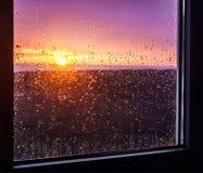 Rainy sunset Stock Photography