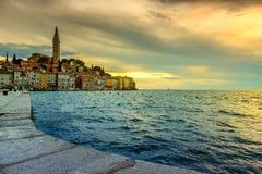 Rainy sunset in Rovinj, Croatia Stock Photo