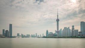 Rainy sunset sky shanghai city river bay panorama 4k time lapse china. China rainy sunset sky shanghai city river bay panorama 4k time lapse stock footage
