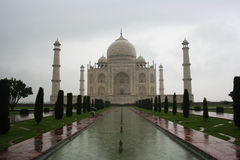 Rainy Taj Mahal. The Taj Mahal with a diferent look: when it's raining Stock Image