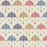 Rainy texture. Vector seamless texture with ambrellas Royalty Free Stock Image