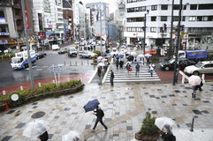 Rainy Tokyo Royalty Free Stock Images