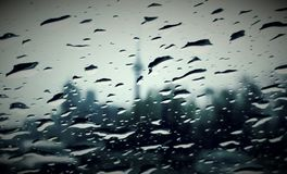 Rainy Toronto Stock Image