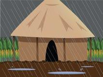 Rainy village Stock Image