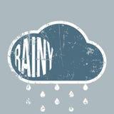 Rainy vintage grunge Weather Background Stock Photo