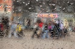 Rainy vision. Abstract vision in rainy day for background royalty free stock images
