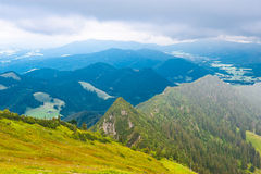Rainy Weather. View to the Bavarian Alps, Rainy Weather royalty free stock image