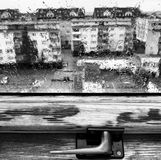 Rainy weather. Artistic look in black and white. Royalty Free Stock Photos
