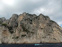 Rainy weather in Capri royalty free stock photo