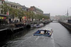 RAINY WEATHER IN COPENHAGEN Royalty Free Stock Image