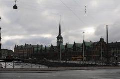 RAINY WEATHER. Copenhagen / Denmark_ 09th. November 2016 _  Shoppers and travelers under umbreallas danish weather rainy day in Copenhagen , Denmark      Photo Stock Photography