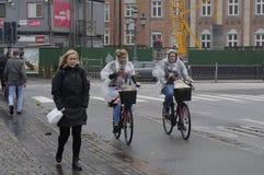 RAINY WEATHER IN COPENHAGEN Royalty Free Stock Images
