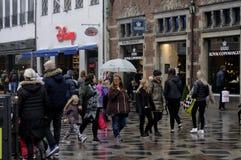 RAINY WEATHER IN COPENHAGEN Royalty Free Stock Photos
