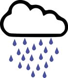 Rainy - weather forecast icon. Vector Stock Photo