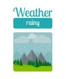 Rainy weather illustration Royalty Free Stock Photo