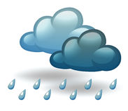 A rainy weather. Illustration of a rainy weather on a white background Royalty Free Stock Photography