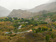 Rainy weather in Muktinath valley, Nepal Stock Photography